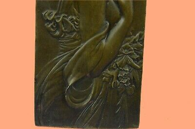Bronze Milo Plaque Art Deco Nouveau Wall Plaques Hand Made Figure Figurine
