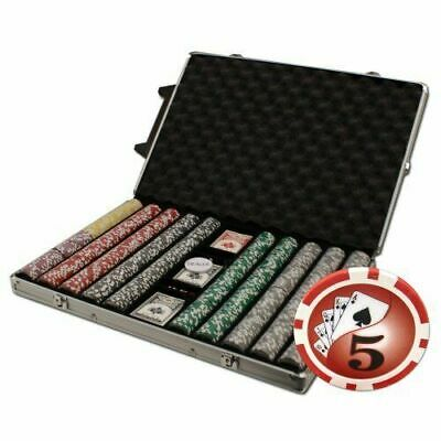 New 1000 Yin Yang 13.5g Clay Poker Chips Set with Rolling Case - Pick Chips!