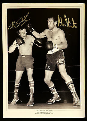 New Tony Sibson And Alan Minter dual Signed Boxing 12x16 Photograph