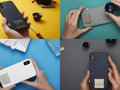 bitplay SNAP!X iPhone X Cam Shutter Grip Case + WIDE-ANGLE & MACRO LENS Package