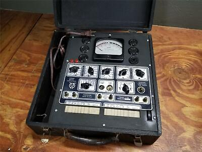 Vintage RARE 1943 HICKOK T53 TUBE TESTER DYNAMIC MUTUAL CONDUCTANCE FULLY TESTED