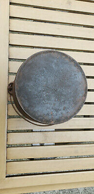 Antique Wagner 7 Cast Iron Flat Bottom Kettle HTF Vtg Arch Logo Cauldron Sidney