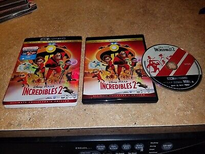 Disney Pixar Incredibles 2 - 4K Ultra Hd Blu Ray + Slipcover Sleeve, Excellent