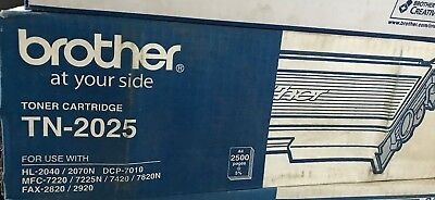 Genuine Brother  TN-2025 Toner Cartridge A4 2500 pages