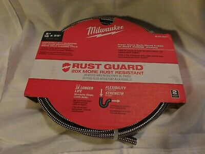 NEW Milwaukee 5/16 in x 25 ft Inner Core Bulb Head Cable W Rust Guard 20X