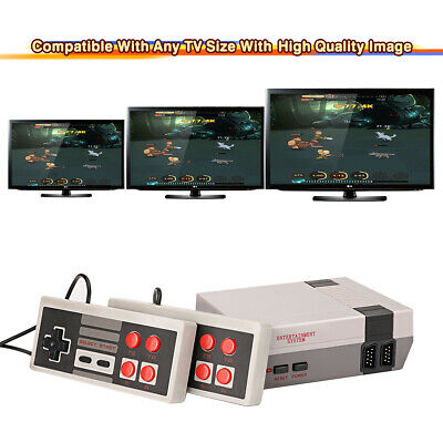Mini Retro TV Game Console Classic 620 Games Built-in w/ 2 Controller Kids Gift
