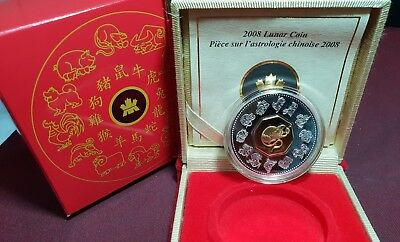 2008 Canada Chinese Lunar Year of the Rat Silver Coin