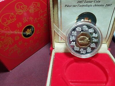 2007 Canada Chinese Lunar Year of the Pig Silver Coin
