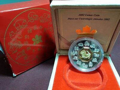 2002 Canada Chinese Lunar Year of the Horse Silver Coin