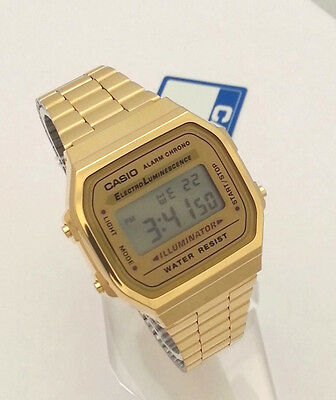 online store 399c4 3280f CASIO DIGITAL CLASSIC A168WG-9 GOLD tone A168 series New ...