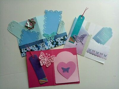 Junk journal inserts starter kits pink and blue theme.