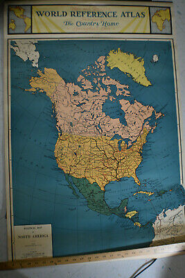 Ca 1931 *NEAR MINT* World Reference Maps From Country Home Magazine *NEW YORK*