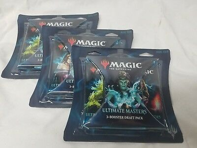 3x MTG Magic The Gathering Ultimate Masters 3-Booster Draft Pack 9 packs NEW