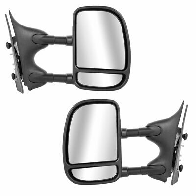 Left+Right 99-07 Ford F250~F550 SuperDuty Power+Heat Side Tow Mirror Side View#4