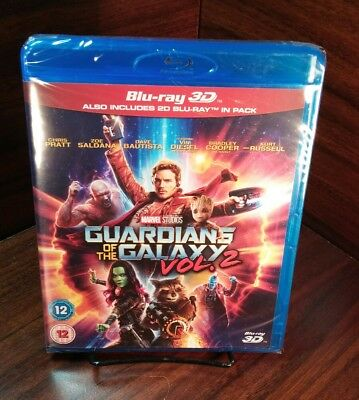 Marvel Guardians of the Galaxy Vol.2(3D+Bluray Disc,2017)REGION FREE-NEW-FreeS&H