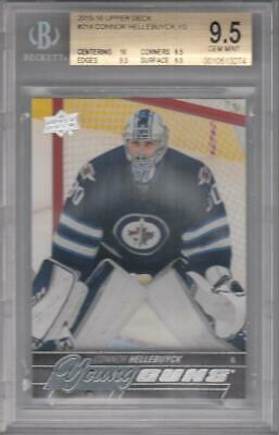 2015-16 Upper Deck #214 Connor Hellebuyck YG RC BGS 9.5 Jets 3274