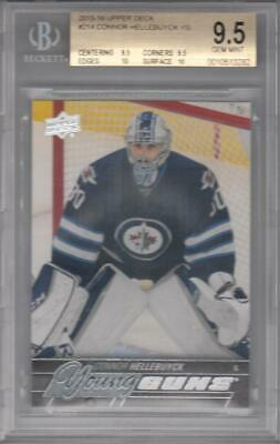 2015-16 Upper Deck #214 Connor Hellebuyck YG RC BGS 9.5 Jets 3282