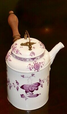 An Antique Meissen hot chocolate pot and cover, circa 1735 RARE over 250 yrs old