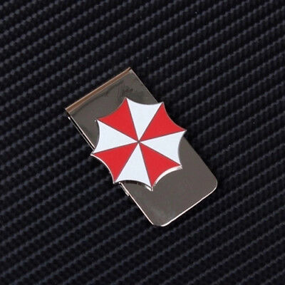 Resident Evil Umbrella Corporation Metal Badge Money Clip