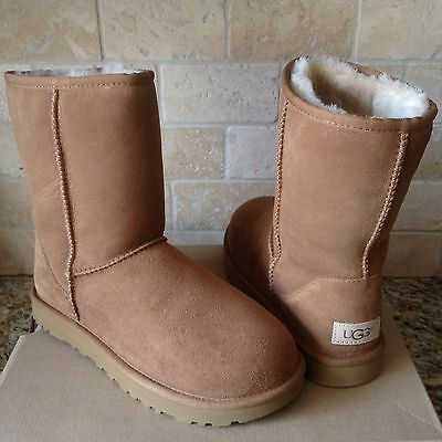 a3519384283 UGG CLASSIC SHORT II Chestnut Water-resistant Suede Boots Size US 7 ...