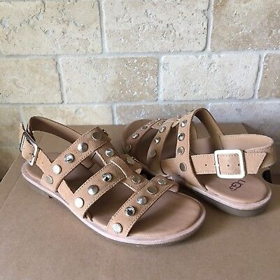 f4d2436c0a0e Ugg Zariah Studded Bling Latte Suede Gladiator Sandals Size Us 5.5 Womens