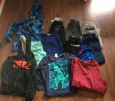boys winter clothes bulk lot size 6 , l/s shirts, pants, bad boy, jackets pack 2