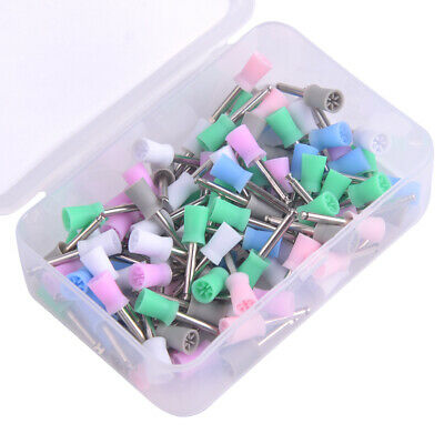 100x Disposable Dental Latch Polishing Polisher Prophy Cup Fits Contra Handpiece