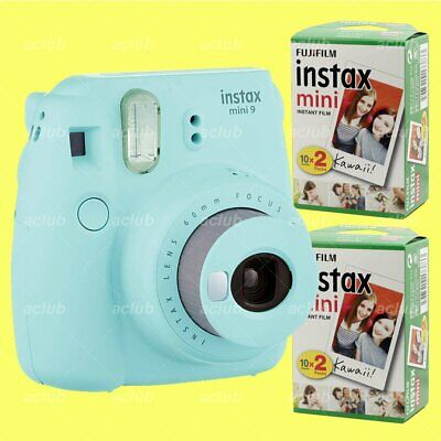 Fujifilm Instax Mini 9 Instant Film Camera (Ice Blue) with 40 Sheets