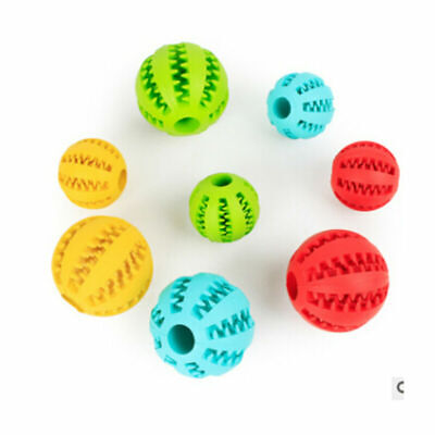 Treat Rubber Ball Toy Pet Dog Puppy Cat Dispensing Holder Training Chew