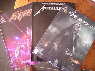 ozzy osbourne black rain anthrax best of guitar tab tablature songbook