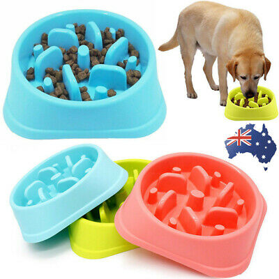 Pets Dog Puppy Interactive Fun Feeder Large Slow Bowl Puzzle Bowl Maze Food Dish