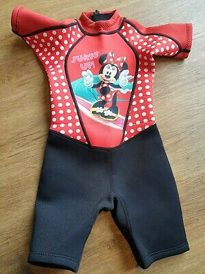 DISNEY KIDS MINNIE MOUSE SHORTY CHILDS WETSUIT  SWIM SUN AGE 4-5 Great condition