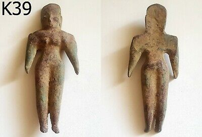 Bronze Ancient Teracotta Mother Goddess Torso Indus Valley 600 BC #K39