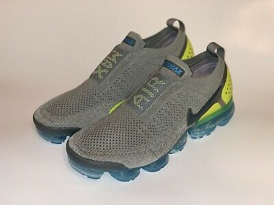 Nike Air Vapormax Flynit Moc 2 Mica Green/Volt/Neo Turquoise AH7006-300 Size 9.5