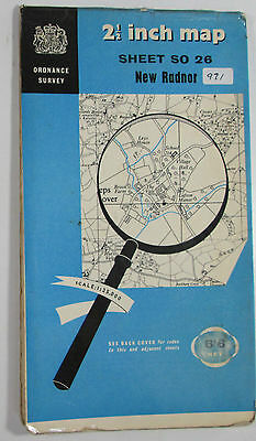 1959 Old Vintage OS Ordnance Survey 1:25000 First Series Map SO 26 New Radnor