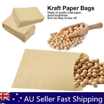 100x SMALL BROWN PAPER Bag Kraft Party CANDY TREAT Wedding LOLLY Gift Loot Flat
