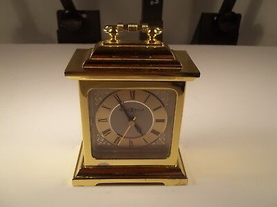 Pre Owned Used Vintage Howard Miller Battery Powered Brass Heavy Clock
