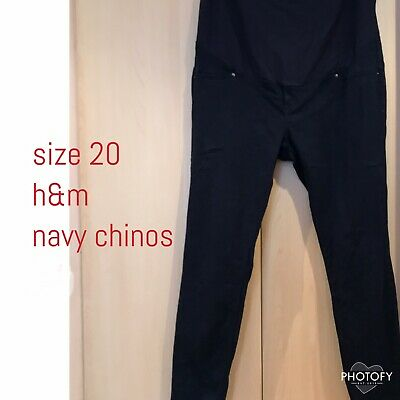 H&M Size 20 Maternity Navy Chinos