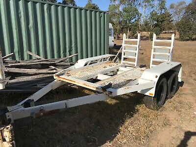 bobcat excavator plant trailer with pintle hitch