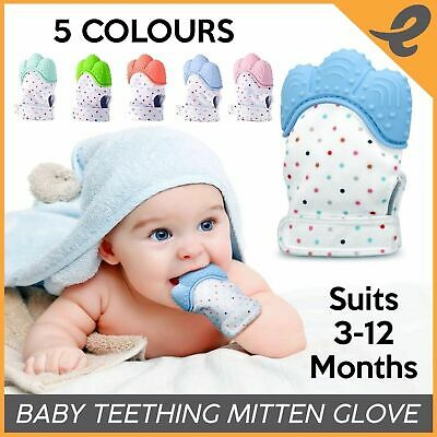 Baby Teething Glove Silicone Teething Mitten Hand Wrapper Sound Toy 1 Teether