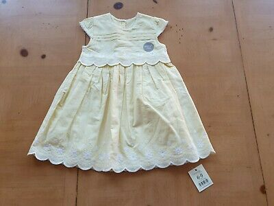 George Baby Girl's Yellow Easter Dress Size 6 to 9 Months - BNWT