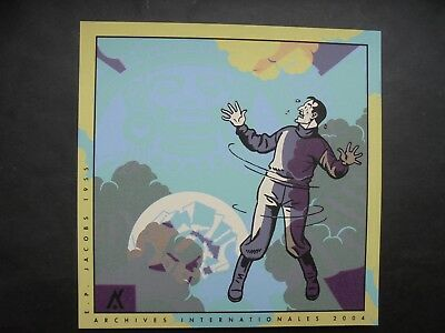 JACOBS  carte de voeux  BLAKE ET MORTIMER ARCHIVES INTERNATIONALES 2004 NEUF