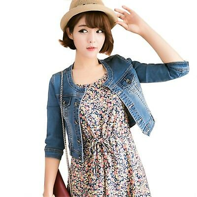 3b8d13b108e Spring  Antumn short denim jackets vintage casual coat women denim jacket  jeans