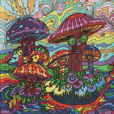 Psychedelic Mushrooms By Howie Green - Numbered Limited Edition Blotter Art