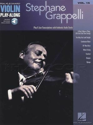 Stephane Grappelli Violin Play-Along Music Book/Backing Tracks Audio Gypsy Jazz