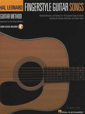 Fingerstyle Guitar Songs TAB Music Book/Audio Hal Leonard Guitar Method