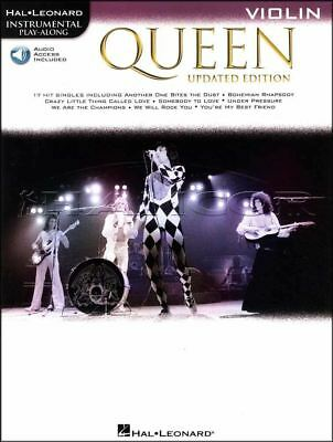 Queen Instrumental Play-Along Violin Updated Music Book/Audio SAME DAY DISPATCH