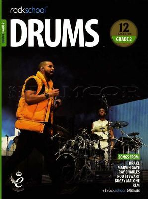 Rockschool Drums Grade 2 2018-2024 Sheet Music Book/Audio Exercises Tests Songs