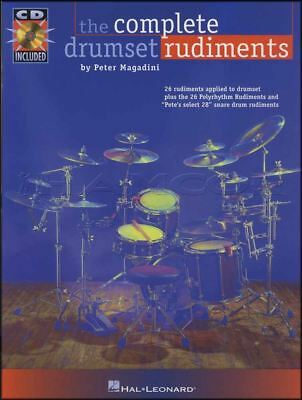 The Complete Drumset Rudiments Drum Sheet Music Book & CD Learn To Play Method