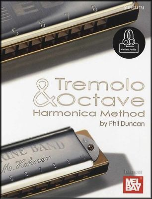 Tremolo & Octave Harmonica Method Sheet Music Book with Audio Learn How To Play